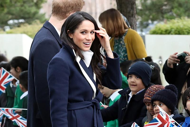 Aspiring actress 10-year-old Sophia Richards got a pep talk from Markle.