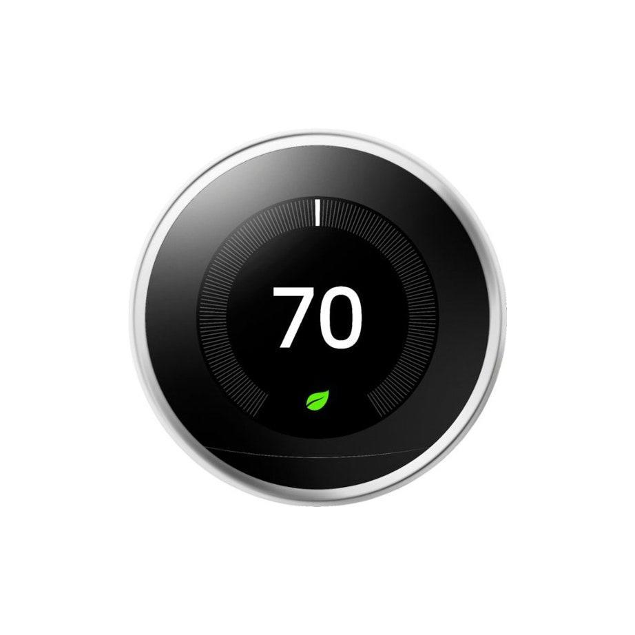 """On the hunt for a smart home upgrade for mom? Consider the Google Nest. It syncs to an app, and through machine learning, auto-adjusts the temperature to her ideal setting. Odds are you'll need to help her set it up, but after that, she's golden. $250, Best Buy. <a href=""""https://www.bestbuy.com/site/google-nest-learning-smart-thermostat-3rd-generation-stainless-steel/4346501.p?skuId=4346501"""" rel=""""nofollow noopener"""" target=""""_blank"""" data-ylk=""""slk:Get it now!"""" class=""""link rapid-noclick-resp"""">Get it now!</a>"""
