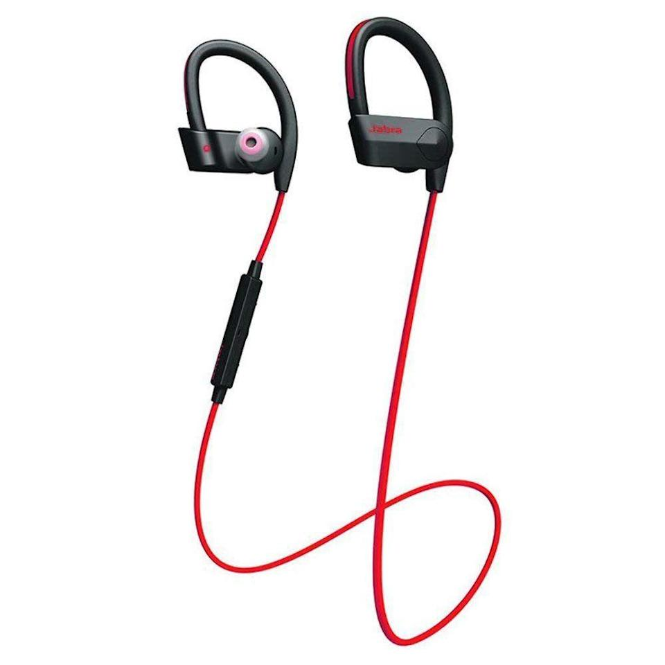 """<p><a rel=""""nofollow noopener"""" href=""""https://www.amazon.com/Jabra-Sport-Wireless-Bluetooth-Earbuds/dp/B0161D1DVY/"""" target=""""_blank"""" data-ylk=""""slk:BUY NOW"""" class=""""link rapid-noclick-resp"""">BUY NOW</a> <strong><em>$79.95, Amazon</em></strong></p><p>Jabra's Sport Pace allows you to listen to your favorite songs at the gym-completely hands-free.</p>"""