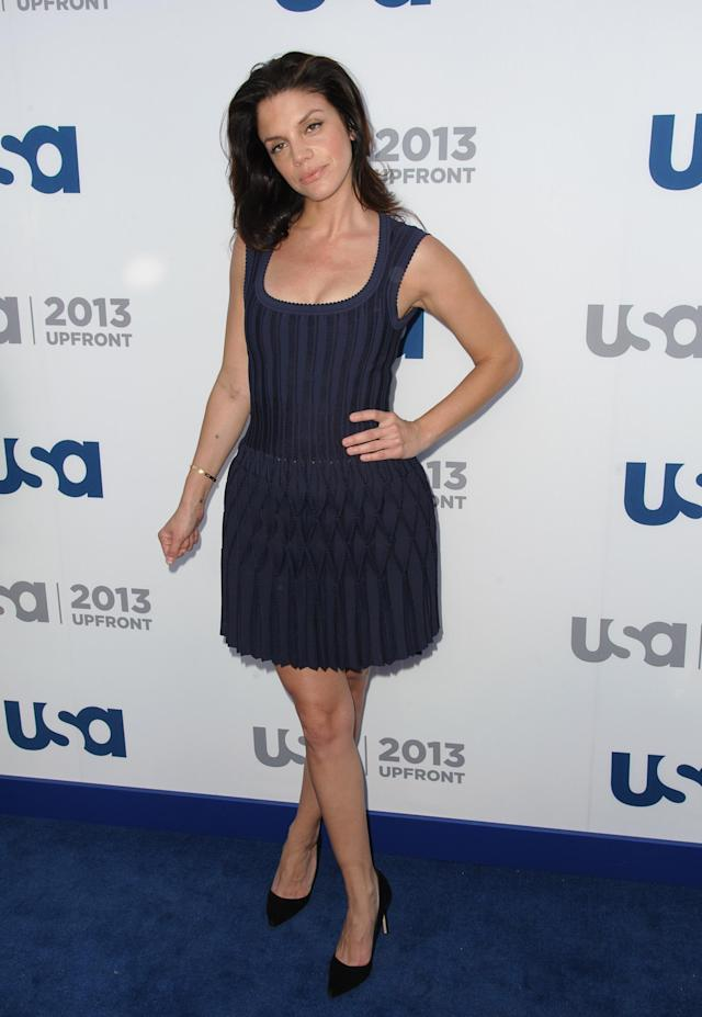 NEW YORK, NY - MAY 16: Vanessa Ferlito attends USA Network 2013 Upfront Event at Pier 36 on May 16, 2013 in New York City. (Photo by Dave Kotinsky/Getty Images)