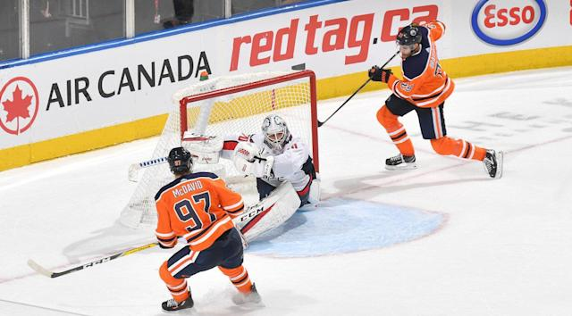 Connor McDavid and Leon Draisaitl are of to an outstanding start to the season. (Andy Devlin/NHLI via Getty Images)