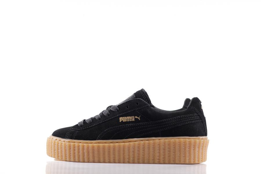 <p>Just when we thought trainers couldn't get anymore stylish Rihanna came along combining Puma's classic sneaker with the creeper, giving women comfort with an extra inch in height – thank you RiRi. [Photo: Puma] </p>