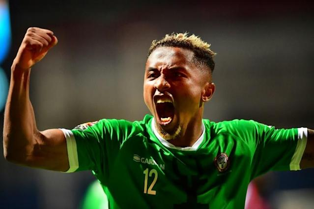A file photo of Lalaina Nomenjanahary, whose two goals helped Madagascar trounce Niger 6-2 Tuesday in an Africa Cup of Nations qualifier (AFP Photo/Giuseppe CACACE)
