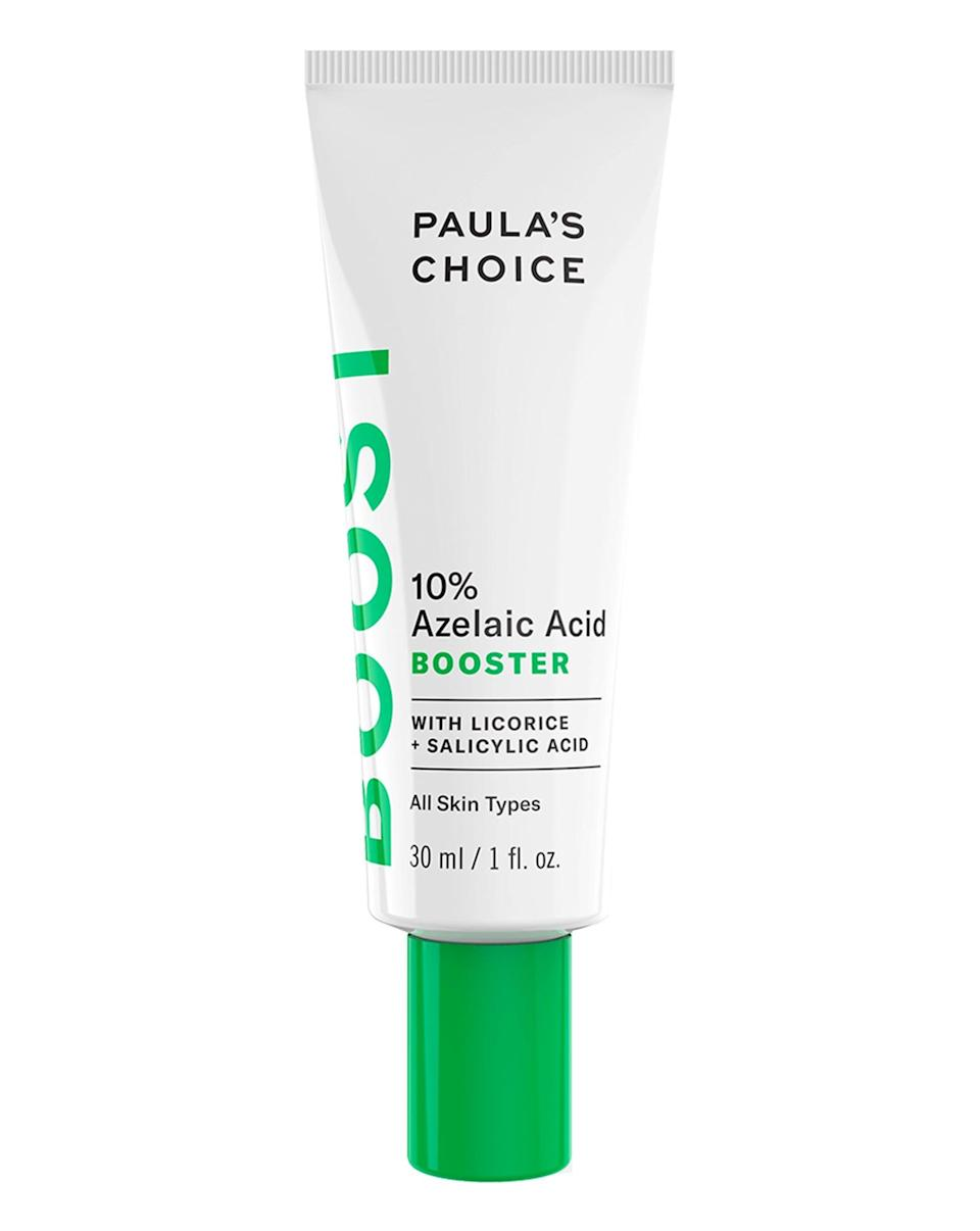<p><span>Paula's Choice 10% Azelaic Acid Booster</span> ($36) is a product that, if you're into skin care, you've probably heard about on social media, as it's gained quite a buzz since it launched in 2018. A lightweight, oil-free cream-gel, it can be used on its own or mixed with a moisturizer or serum. Whilst formulated for all skin types, we'd still recommend starting off slowly, and following it with a simple, hydrating moisturizer.</p>
