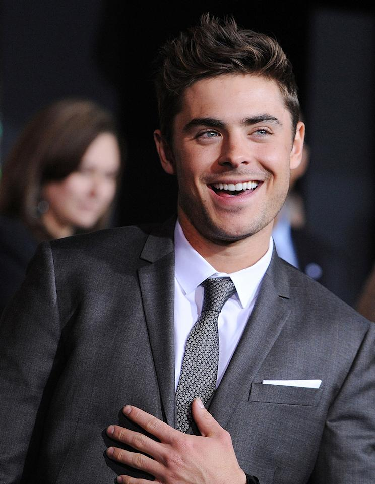Zac Efron at the Los Angeles premiere of New Year's Eve on December 5, 2011.