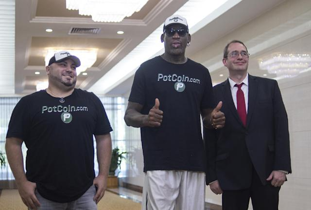 Rodman has visited North Korea several times: AFP/Getty Images