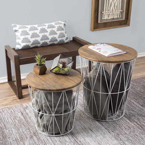 """<p><strong>Wrought Studio\u2122</strong></p><p>wayfair.com</p><p><strong>$125.90</strong></p><p><a href=""""https://go.redirectingat.com?id=74968X1596630&url=https%3A%2F%2Fwww.wayfair.com%2Ffurniture%2Fpdp%2Fwrought-studio-mcgonigal-2-piece-nesting-tables-cmsn1006.html&sref=https%3A%2F%2Fwww.thepioneerwoman.com%2Fhome-lifestyle%2Fdecorating-ideas%2Fg35001978%2Fblanket-storage-ideas%2F"""" rel=""""nofollow noopener"""" target=""""_blank"""" data-ylk=""""slk:Shop Now"""" class=""""link rapid-noclick-resp"""">Shop Now</a></p><p>This two-piece set would work well for blankets, but also kids' toys, pillows, and a variety of other things. You can turn the basket part upside-down to create a totally different table shape.</p>"""
