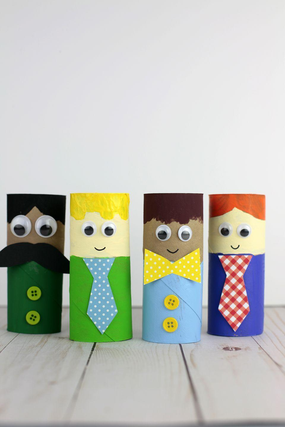 """<p>For a one-of-a-kind dad, you need a one-of-a-kind gift — like a paper tube roll dressed up to look just like him. You can even make his favorite outfit!</p><p><a href=""""https://nontoygifts.com/paper-roll-fathers-day-craft/"""" rel=""""nofollow noopener"""" target=""""_blank"""" data-ylk=""""slk:Get the tutorial at Non-Toy Gifts »"""" class=""""link rapid-noclick-resp""""><em>Get the tutorial at Non-Toy Gifts »</em></a></p>"""