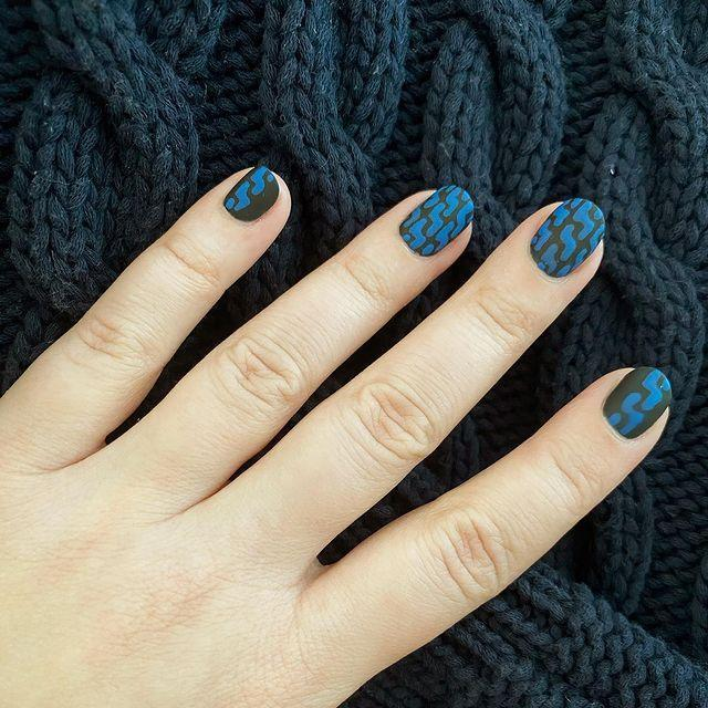 "<p>You can get really specific about matching your nails to you outfit with this sweater pattern by Miss Pop.</p><p><a href=""https://www.instagram.com/p/CHRPW6XlCPc/"" rel=""nofollow noopener"" target=""_blank"" data-ylk=""slk:See the original post on Instagram"" class=""link rapid-noclick-resp"">See the original post on Instagram</a></p>"