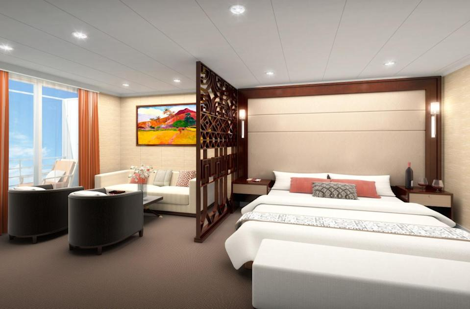 """<p>What's New: French Polynesia has long beckoned adventurous travelers with its unique cruises aboard the dual-purpose passenger–freighter ship, <a href=""""http://www.fodors.com/cruises/aranui-3-712738"""" rel=""""nofollow noopener"""" target=""""_blank"""" data-ylk=""""slk:Aranui 3"""" class=""""link rapid-noclick-resp"""">Aranui 3</a>. Travelers in 2016 can experience the same thrills aboard an upgraded version of the vessel, courtesy of the 254-passenger <a href=""""https://aranui.com/"""" rel=""""nofollow noopener"""" target=""""_blank"""" data-ylk=""""slk:Aranui 5"""" class=""""link rapid-noclick-resp"""">Aranui 5</a>, which debuted in December 2015. Set out on 13-night itineraries, sailing round-trip from Papeete, Tahiti, with stops in Bora Bora (in the Society Islands), and several remote isles throughout the Marquesas Islands and Tuamotu Archipelago. While the ship brings supplies to islanders en route, passengers can participate in the guided shore excursions (waterfall hikes, artisan visits, etc.) that are included in each port. On board, guests enjoy the services of a largely Polynesian crew and a ship equipped with four bars, an outdoor swimming pool (with whirlpool), fitness room, and more.</p><p>Set Sail: Itineraries embark 17 times year-round; rates from $2,781/person, including wine with meals, guided shore excursions, and select onshore meals at area restaurants. (Photo: Courtesy of Aranui 5)<br></p>"""