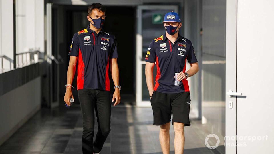 Alex Albon and Max Verstappen at Russian GP 2020