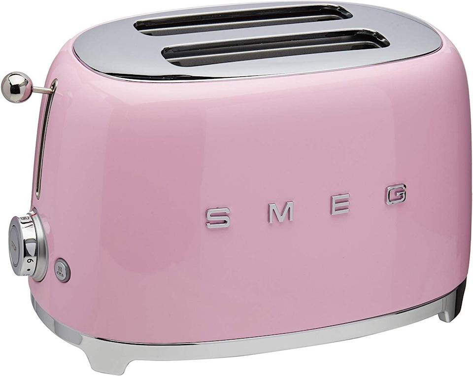 <p>You can get this retro <span>Smeg 2-Slice Toaster-Pink</span> ($170) in all sorts of colors.</p>