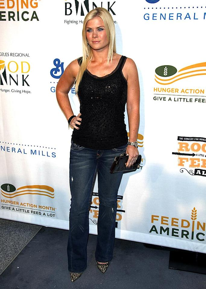 "Joining Jillian at the star-studded soiree was her co-star Alison Sweeney, who kept it casual in a bedazzled tank and distressed denim. Jean Baptiste Lacroix/<a href=""http://www.wireimage.com"" target=""new"">WireImage.com</a> - September 29, 2009"