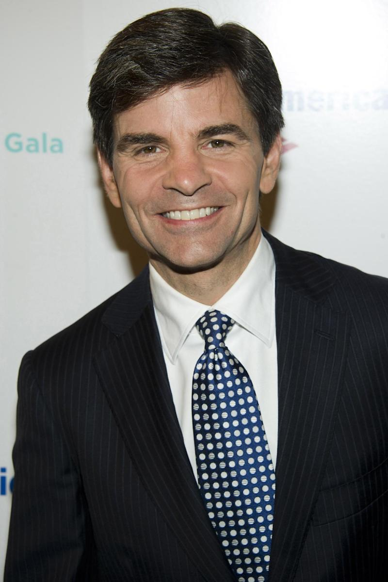 "FILE - In a Monday, Dec. 5, 2011 file photo, George Stephanopoulos attends the Baby Buggy 10th Anniversary Gala, in New York. Stephanopoulos, the co-host of ABC's ""Good Morning America"" during the week and host of the Sunday political talk show ""This Week"" has both shows at such competitive crossroads this spring that his bosses are reluctant to give him time off.  It's not a schedule built for the long term, but it's made him the man of the moment at ABC News.  (AP Photo/Charles Sykes, File)"