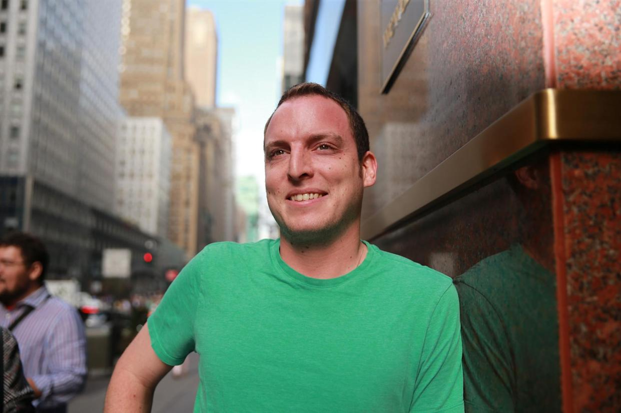 Issac Saul poses for a photo outside his office in New York City. (Photo: Gordon Donovan/Yahoo News)
