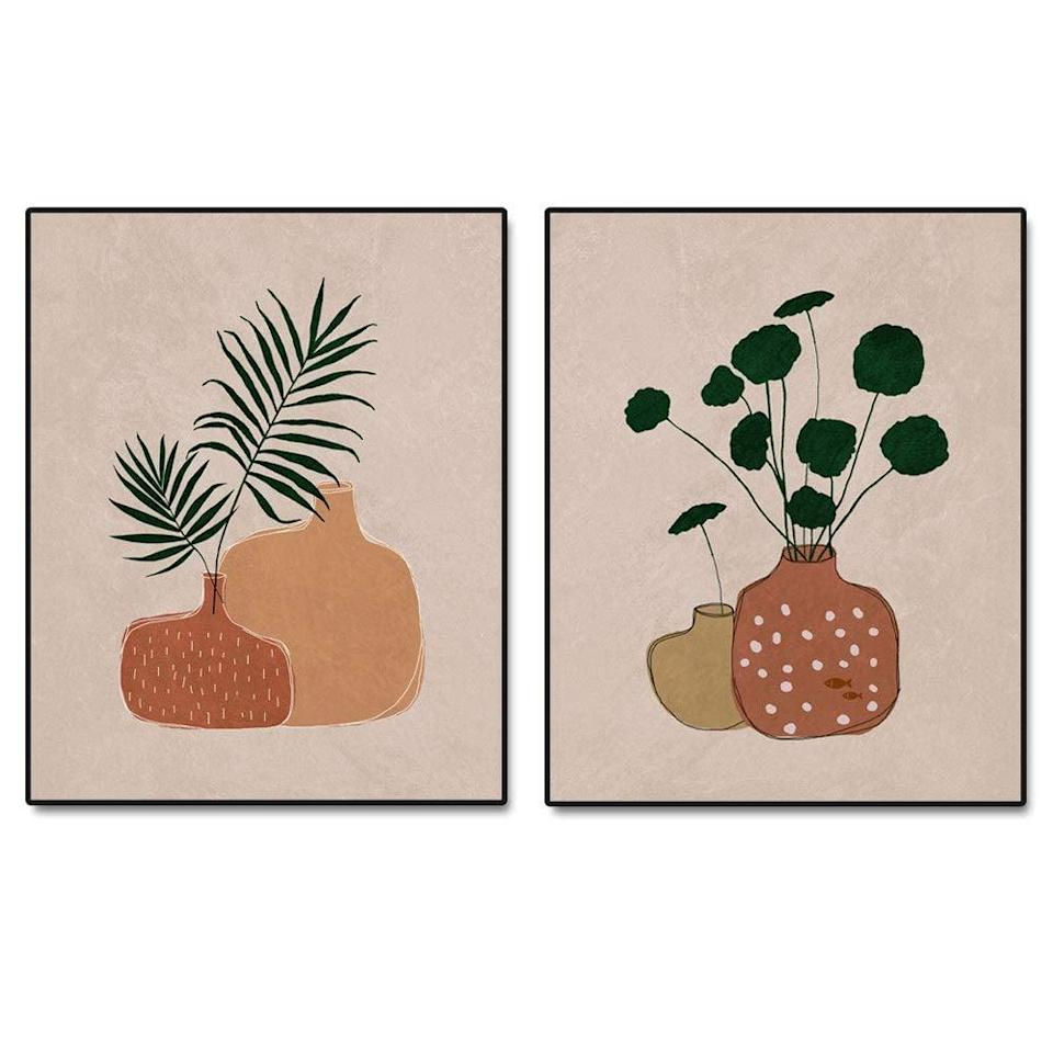 <p>If muted earth tones are your aesthetic, the <span>Minimalist Pottery Art Print Set of 2 Prints - 8x10 inch</span> ($16) will be the perfect wall art.</p>
