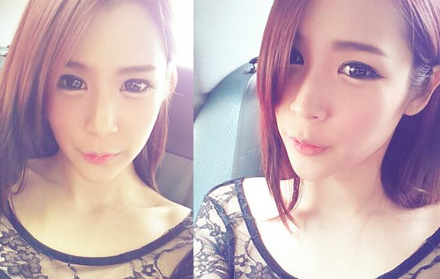Singaporean Ulzzang Miyake after her Ulzzang makeup (Photo courtesy of Miyake)