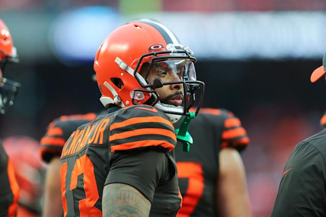 Odell Beckham Jr. seemed disconnected from the rest of the Cleveland Browns on Sunday. (Frank Jansky/Icon Sportswire via Getty Images)