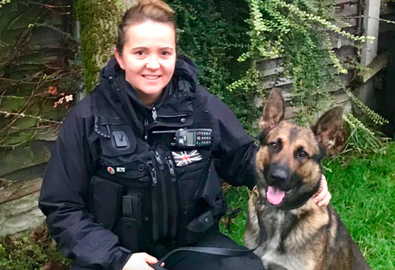Police dog handler Jennie Ellse and dog Quantum were attacked by Nelson Nelson. (BPM Media)