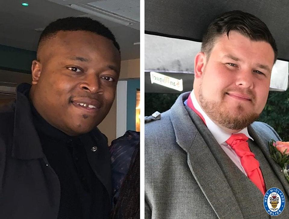 Will Henry (left) and Brian McIntosh were found shot dead in a Range Rover in Dudley in September 2020 (West Midlands Police/PA) (PA Media)