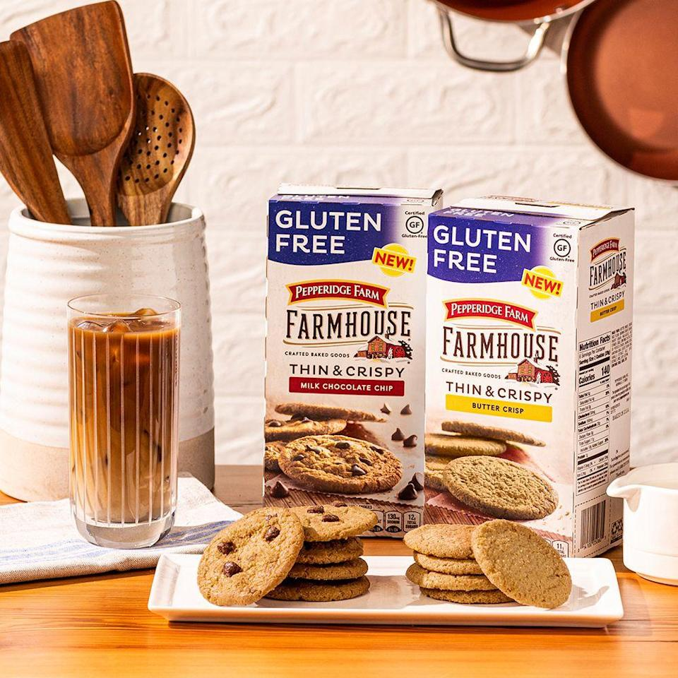 <p><strong>Release date:</strong> January 2020</p><p>For the first time ever, Pepperidge Farm's Farmhouse cookies are going gluten-free. You have your choice of Thin & Crispy Milk Chocolate Chip and Butter Crisp varieties. Good luck not devouring both boxes in one sitting!</p>