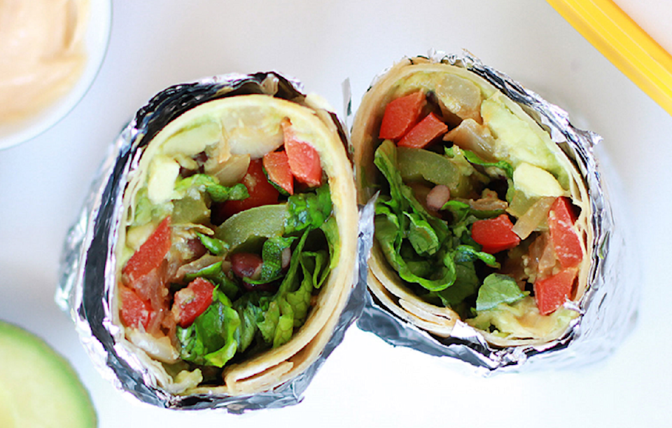 """<p>Battle with the <a href=""""https://www.thedailymeal.com/best-burritos-america-gallery?referrer=yahoo&category=beauty_food&include_utm=1&utm_medium=referral&utm_source=yahoo&utm_campaign=feed"""" rel=""""nofollow noopener"""" target=""""_blank"""" data-ylk=""""slk:best burritos in America"""" class=""""link rapid-noclick-resp"""">best burritos in America</a> using this recipe fit with not one but three <a href=""""https://www.thedailymeal.com/healthy-eating/heart-healthy-foods-gallery?referrer=yahoo&category=beauty_food&include_utm=1&utm_medium=referral&utm_source=yahoo&utm_campaign=feed"""" rel=""""nofollow noopener"""" target=""""_blank"""" data-ylk=""""slk:heart-healthy heavyweights"""" class=""""link rapid-noclick-resp"""">heart-healthy heavyweights</a>: avocados, black beans and spinach.</p> <p><strong><a href=""""https://www.thedailymeal.com/best-recipes/avocado-black-bean-burrito?referrer=yahoo&category=beauty_food&include_utm=1&utm_medium=referral&utm_source=yahoo&utm_campaign=feed"""" rel=""""nofollow noopener"""" target=""""_blank"""" data-ylk=""""slk:For the Avocado Black Bean Burrito with Spicy Vegan Chipotle Dressing recipe, click here"""" class=""""link rapid-noclick-resp"""">For the Avocado Black Bean Burrito with Spicy Vegan Chipotle Dressing recipe, click here</a></strong></p>"""