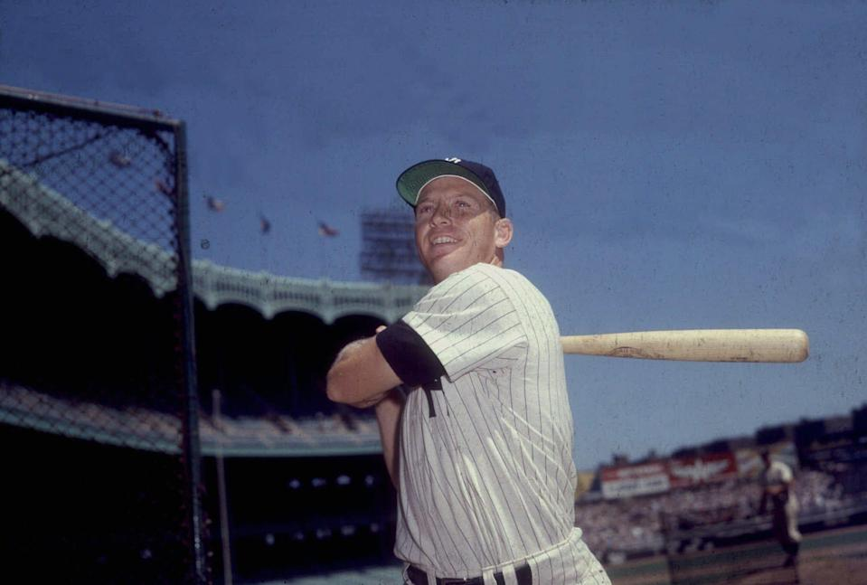 Mickey Mantle's autographed gambling cards for Donald Trump's casinos in Atlantic City are up for auction. (AP)