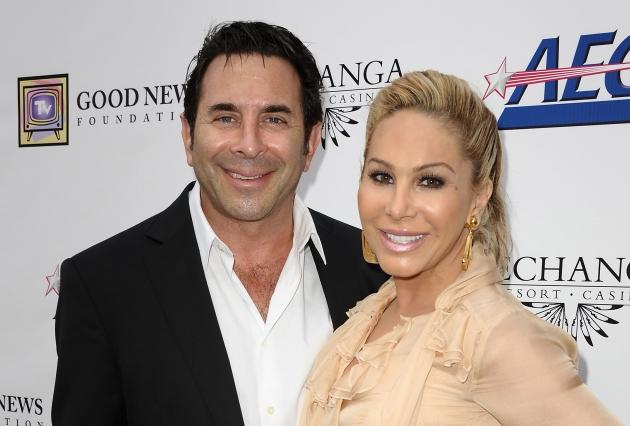 Dr. Paul Nassif and Adrienne Maloof attend the Good News Foundation's Feel Good fundraising luncheon at Club Nokia in Los Angeles on October 2, 2011  -- Getty Premium