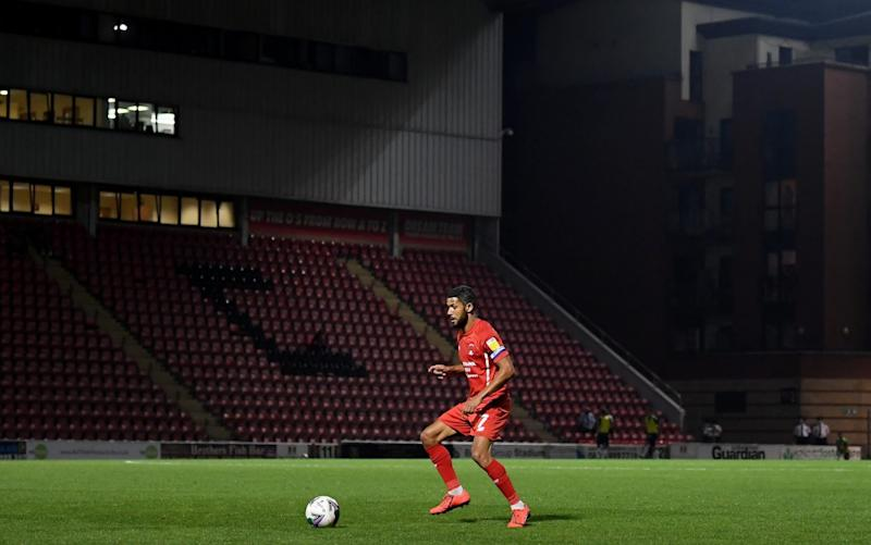 Jobi McAnuff of Leyton Orient controls the ball during the Carabao Cup Second Round match between Leyton Orient and Plymouth Argyle at The Breyer Group Stadium on September 15, 2020 in London, England. - GETTY IMAGES