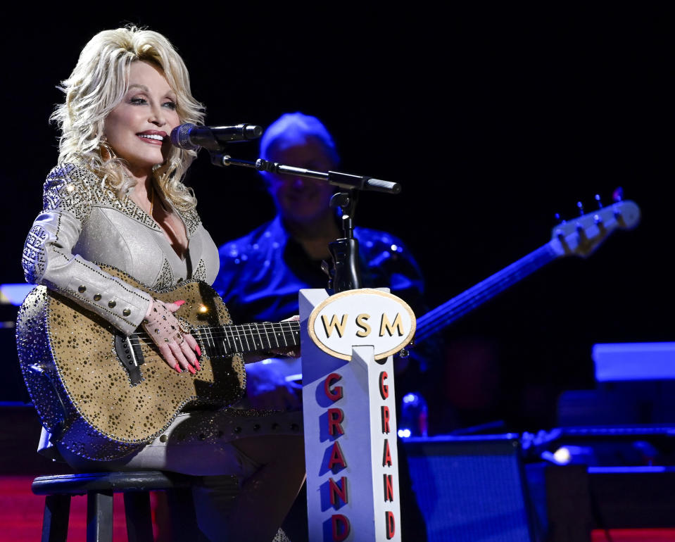 DOLLY PARTON: 50 YEARS AT THE OPRY -- Pictured: Dolly Parton -- (Photo by: Katherine Bomboy/NBC/NBCU Photo Bank via Getty Images)