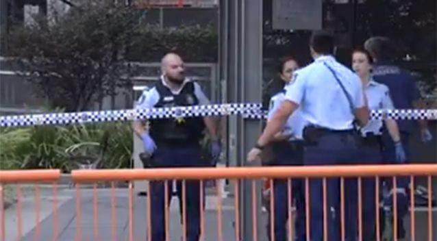 A crime scene has been established. Source: Channel 7