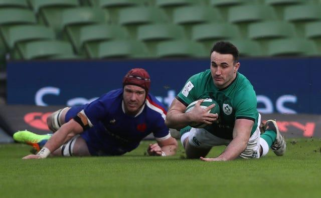 Ireland hooker Ronan Kelleher, right, will make his first Six Nations start after scoring against France last time out