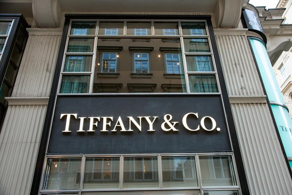 Tiffany & Co. or Tiffany's store in Vienna, Austria at the most prestigious shopping zone in downtown Wien also called the Golden U at Kohlmarkt street Strasse. Formerly the location of numerous court-appointed jewelers, international luxury brands and boutiques.  Tiffany's is an American luxury jewelry brand. The historical building at the 5th Ave in New York and Tiffany's logo became famous and worldwide known from the iconic movie Breakfast at Tiffany's with Audrey Hepburn from 1961.  Tiffany's jewellery and iconic blue gift boxes packaging called robin's-egg / birds-egg on display at the store. Earlier this year Tiffany's was sold to LVMH Group  ( Louis Vuitton Moet Hennessy ) for 14.7 billion Euros. December 4, 2019 (Photo by Nicolas Economou/NurPhoto via Getty Images)