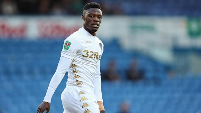 The forward shares his delight after breaking goal duck at Leeds United