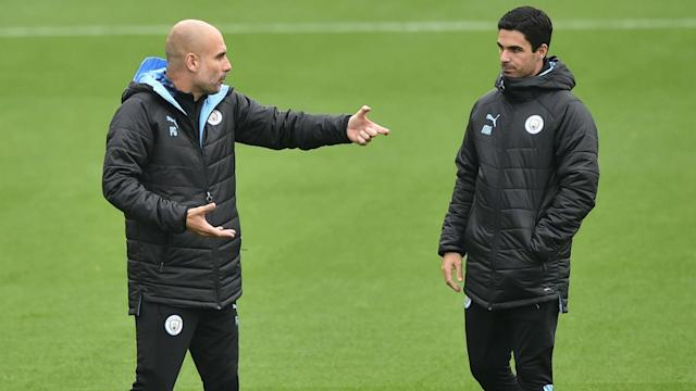 Mikel Arteta has held talks with Arsenal, and Manchester City boss Pep Guardiola hopes a decision on his future will be made swiftly.