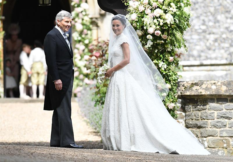 Pippa Middleton and her father Michael Middleton.