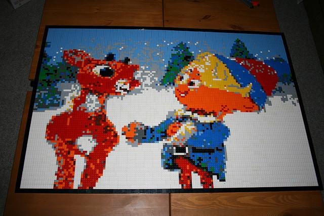 Dave Ware's Christmas 2009 mosaic, based on the Rankin Bass Rudolph