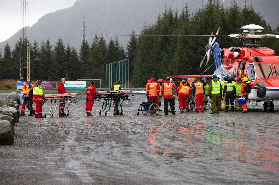 Almost 500 passengers, many of them elderly, were airlifted off the ship (AFP Photo/Svein Ove EKORNESVAAG)