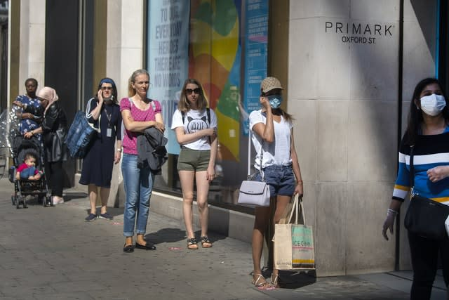 Shops reopened in England on Monday