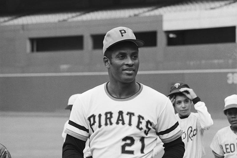 Roberto Clemente before his death in 1972. (Getty Images)