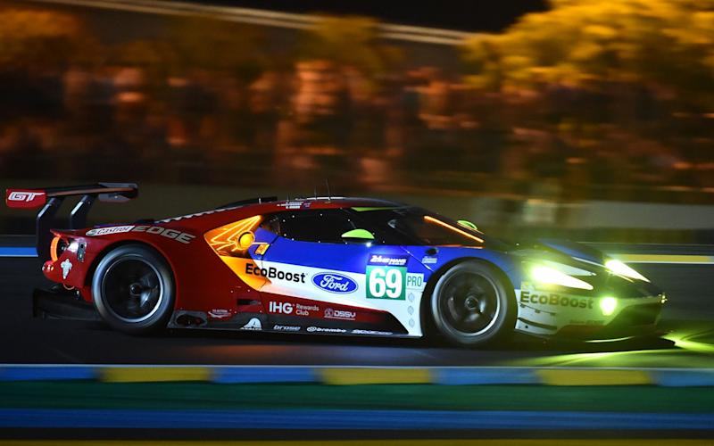 "England's pilot Richard Westbrook Ford GT GTE Ecoboost n°69 during the first qualifying practice session of the Le Mans 24 hours endurance race, on June 14, 2017 in Le Mans northwestern France. Sixty cars with 180 drivers will participate on June 17 and 18 June at the 85rd ""Le Mans 24-hours"" endurance race. / AFP PHOTO / JEAN-FRANCOIS MONIERJEAN-FRANCOIS MONIER/AFP/Getty Images  - Credit: JEAN-FRANCOIS MONIER /AFP"