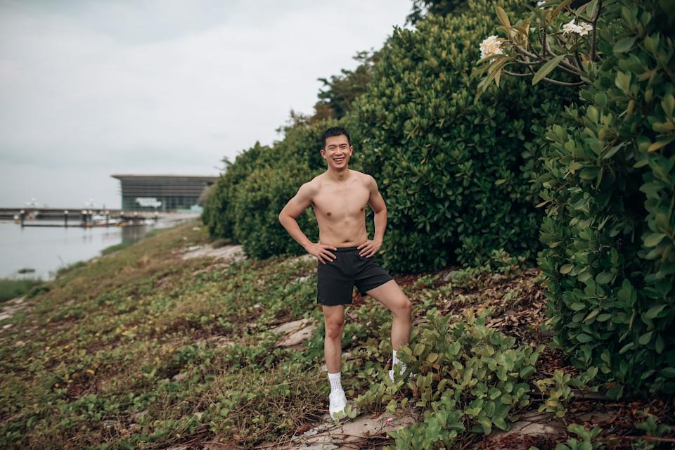 Sutsiam got back into an active lifestyle in 2019, when he returned to the gym.