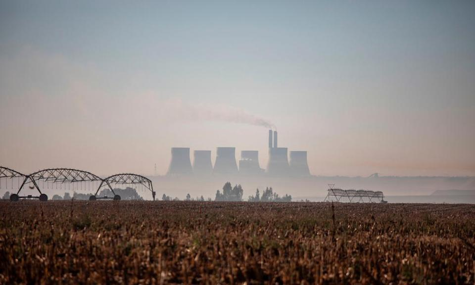 "SAFRICA-ENVIRONMENT-HEALTH-POLLUTIONThis picture taken on June 13, 2019 shows a general view of the Kendal Power Station located in eMalahleni , part of the Highveld region turned over to mines and power plants. - South Africa has placed a heavy bet on coal for its development -- a fuel that is plentiful, cheap and locally-sourced. But campaign groups say health and climate costs are high. eMalahleni , which means ""the place of coal"", is among the worst places in the world for pollution by nitrogen dioxide and sulphur dioxide, according to Greenpeace. The NGOs contend that the government has failed to reduce deadly pollution levels in the area, just an hour and a half's drive from Johannesburg. (Photo by Wikus DE WET / AFP)WIKUS DE WET/AFP/Getty Images"
