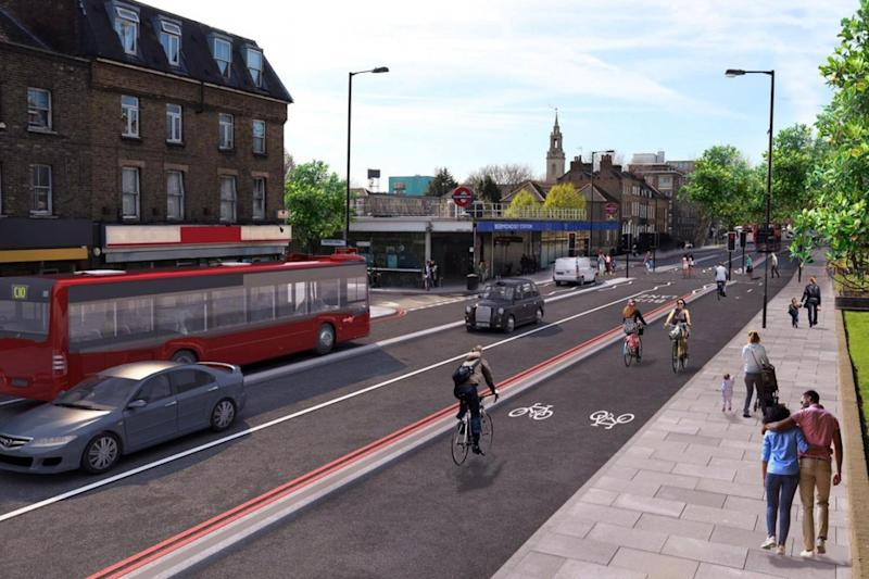 They are calling for extended cycle lanes to protect cyclists