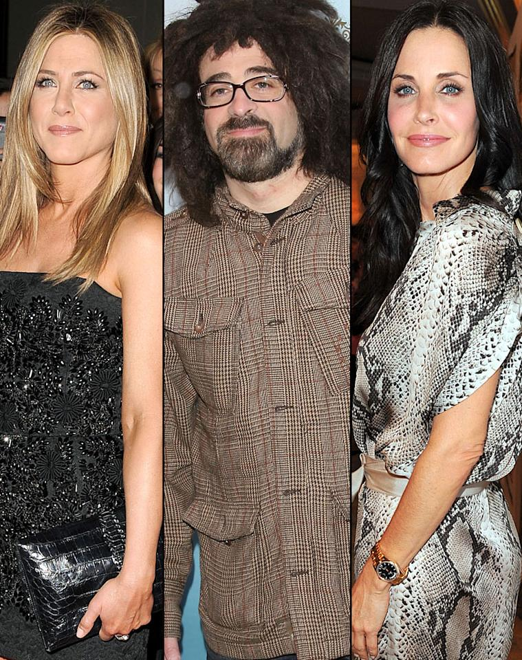 "What's a little boyfriend-sharing amongst ""Friends""? BFFs Jennifer Aniston and Courteney Cox both dated Counting Crows' Adam Duritz -- albeit two years apart. Aniston first hooked up with the dreadheaded singer in 1995 for a brief dalliance. Then in 1997, Cox appeared in the band's video for ""Long December,"" and they too began a short-lived romance."