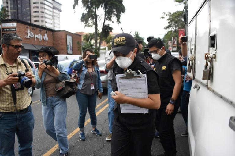 Public prosecutors arrive at the International Commission against Impunity in Guatemala (CICIG) headquarters in Guatemala City on August 31, 2018
