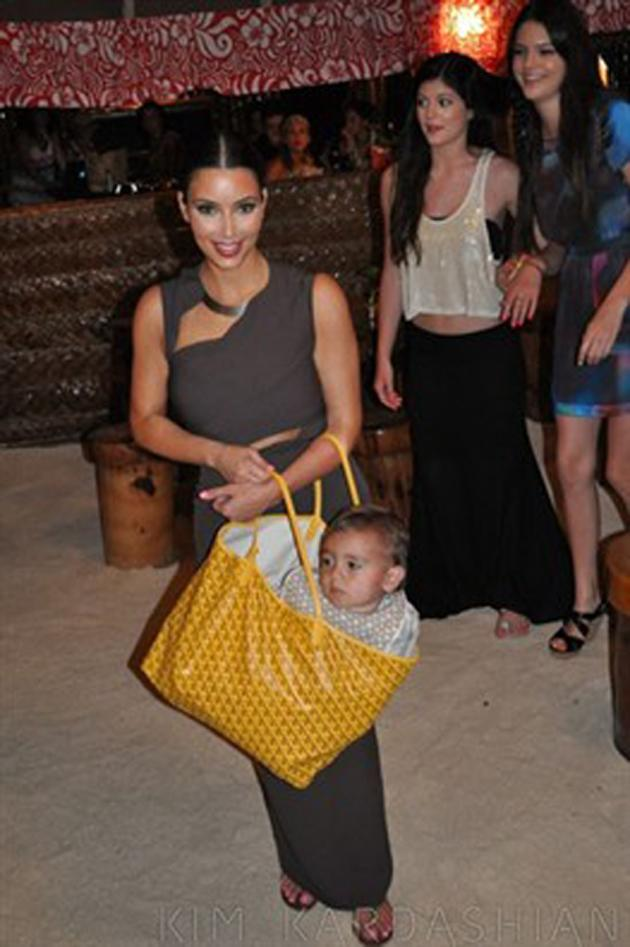 Kim Kardashian put her nephew in her handbag and caused uproar amongst children charities claiming it was unsafe. Oops.