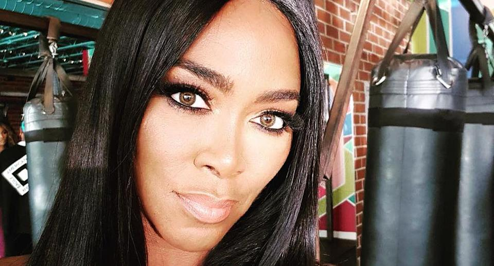 Kenya Moore is being trolled for possibly wearing a wig to the gym. (Photo: Kenya Moore via Instagram)