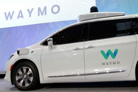 FILE PHOTO: Waymo unveils a self-driving Chrysler Pacifica minivan during the North American International Auto Show in Detroit