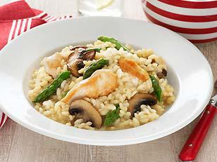 Chicken & Mushroom Risotto for Two